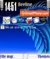 Blue Dragon s60v3 es el tema de pantalla