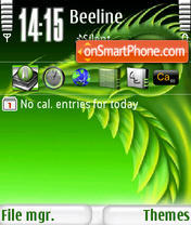 Green Dragon s60v3 theme screenshot
