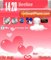 Heart Heaven s60v3 theme screenshot