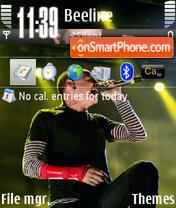 Chester Bennington theme screenshot