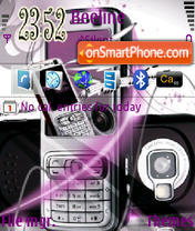 Nokia N73 02 theme screenshot