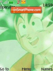 Green Goku theme screenshot