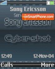 Sonyericsson 01 theme screenshot