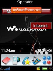 New WalkMan theme screenshot