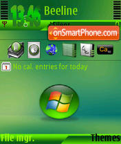 Green Vista s60v3 tema screenshot