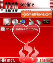 Love Fire s60v3 theme screenshot