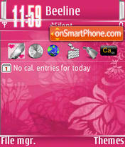 Pink Abstract s60v3 theme screenshot