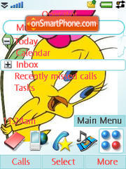Tweety Pie theme screenshot