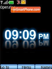 Blue Clock A theme screenshot