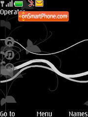 Black A theme screenshot