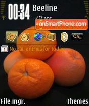Orange 08 theme screenshot