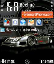Mercedes CLK GTR240 yI theme screenshot