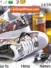 Скриншот темы Adidas Graffity