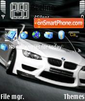 Bmw M3 White theme screenshot