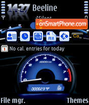Speedometer QVGA theme screenshot