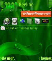 Green Leaf s60v3 theme screenshot