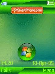 Green vista w910i theme screenshot