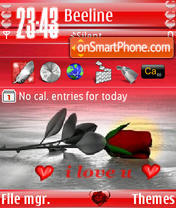 Love Rose s60v3 theme screenshot