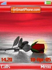 Rose w910i theme screenshot