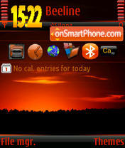 Sunset v3 s60v3 theme screenshot
