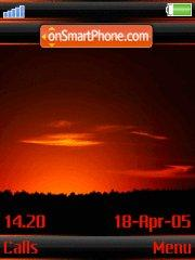 Sunset v3 w910i theme screenshot