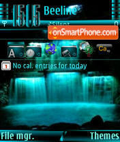 Waterfalls s60v3 theme screenshot