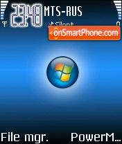 N70 Blue Vista theme screenshot