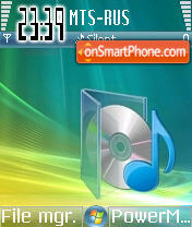 Vista Music theme screenshot
