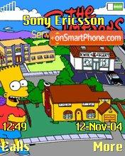 Скриншот темы Los Simpson