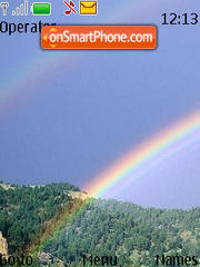 Rainbow tema screenshot