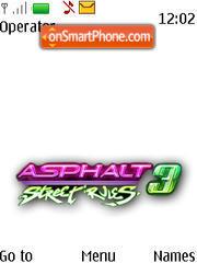 Asphalt 3 theme screenshot