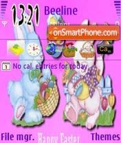 Easter In Pink tema screenshot