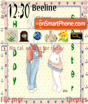 Love And Happy Easter tema screenshot