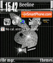 Playboy S60v3 theme screenshot