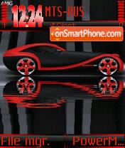 Red Car Animated s60 theme screenshot