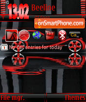Red Car s60v3 theme screenshot
