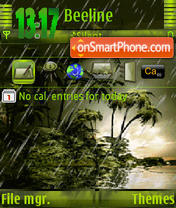 Green Rain s60v3 theme screenshot