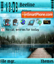 Rainy Nature s60v3 theme screenshot