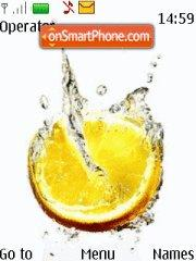 Orange Splash theme screenshot