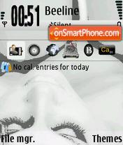 Скриншот темы Black and White 06