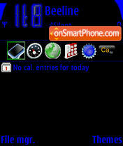 BB theme screenshot