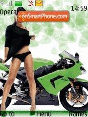 Kawasaki Ninja v2 theme screenshot