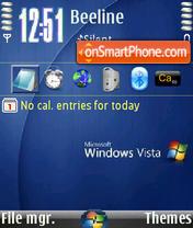 Скриншот темы Vista