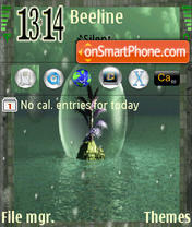 Green Fantasy tema screenshot