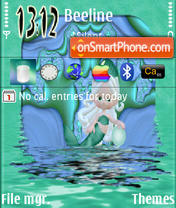 Green Mermaid theme screenshot