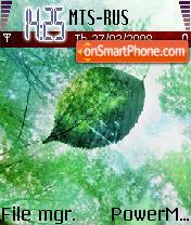 Скриншот темы Leaf