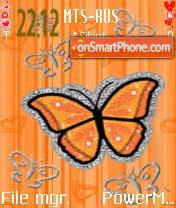 Orange Bfly1 es el tema de pantalla