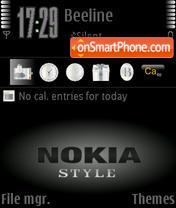 Nokia Style theme screenshot