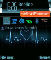 Cardiogram Sl tema screenshot