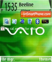 Скриншот темы Vaio Green